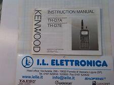 MANUALE IN INGLESE istruzioni d'uso per KENWOOD TH-D7A/E