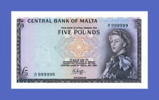 MALTA Lots of 2 notes 1...5 Pounds Reproductions