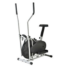 2 IN 1 Cross Elliptical Bike Indoor Exercise Trainer Workout Machine Fitness Gym