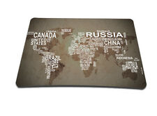 World Map Anti-Slip Laptop PC Mousepad Mat Mice Pad For Optical Laser Mouse New