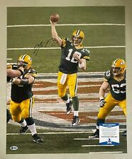 Aaron Rodgers Signed 16x20 Photo Autographed AUTO Beckett BAS COA Packers