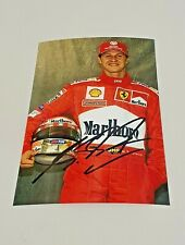Handsigniertes Foto Ferrari vom Weltmeister Michael Schumacher