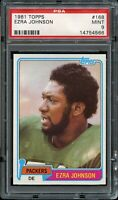 1981 Topps FB Card #168 Ezra Johnson Green Bay Packers ROOKIE CARD PSA MINT 9 !!