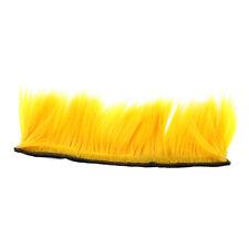 Motorbike Adhesive Helmet Mohawk Hair Patches Skinhead Costumes Wig - Yellow