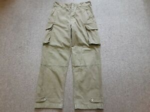 VTG 50s French Army Military M47 Cotton Twill Field Cargo Trouser Pants 34 34/32
