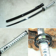 Handmade Japanese Katana Samurai Real Hamon T10 Clay Tempered Sharp Sword