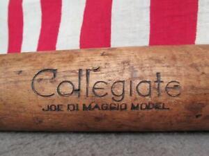 Vintage JC Higgins Wood Baseball Bat Collegiate Joe DiMaggio Model Yankees HOF