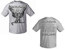 CROWBAR - Eagle Tour 2014 White - grey T-Shirt - Größe Size M - Neu
