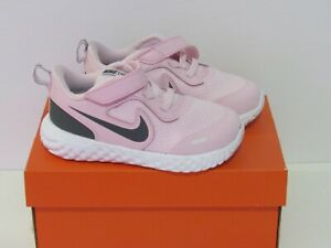 New Girls Nike Revolution 5 Sneakers Shoes Size 8 Pink Gray BQ5673601
