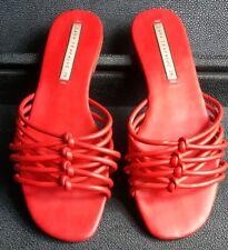 Ladies red Zara Sandals knot strappy Slip on Size 39