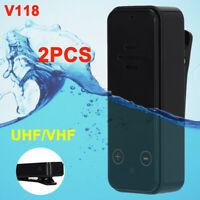 2pcs Mini Handheld Walkie Talkie UHF VHF Waterproof Two Way Ham Radio Long Range