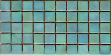 50pcs NP42 Light Aqua Natura Pearl Glass Mosaic Tiles Iridescent 15x15x4mm