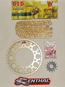 DID Gold Race 520 Chain & Renthal Sprocket Kit fits GSXR600 01-10 K1-L0