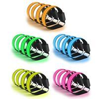 4pcs/lot Nylon Armbands Night Safety Unisex Sports LED Luminous Wristband Set