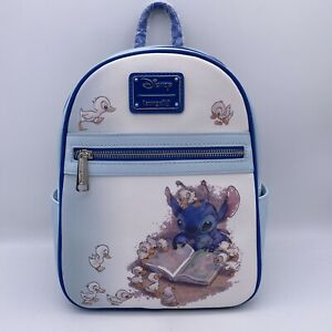 Loungefly Disney Lilo & Stitch reading Ducklings Mini Backpack Bag