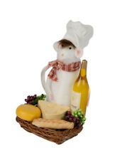 Byers Choice Chef Mouse w/Tray of Wine & Cheese New 2018 Design Adorable!