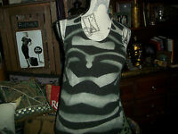 DOLCE CABO Bewitching Gray Lambswool Angora Blend Top Size L
