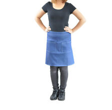 New Denim Blue Half Apron Barista All Rounder Café works Home Kitchen Man Women