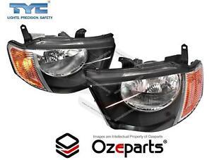 Set Pair LH+RH Head Light Lamp For Mitsubishi Triton Ute ML 06~09 GLS GLX-R VR