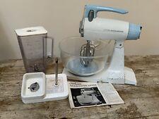 More details for sunbeam mixmaster vintage 1977 mixer food retro working blender kit blue cream
