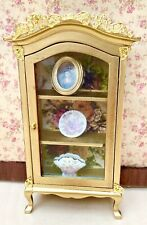 Dolls House Gilded Display Cabinet With Accessories