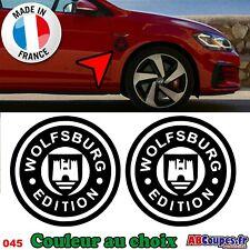 Stickers Autocollants Wolfsburg Edition 10cm - Volkswagen WV Golf Cox - 045