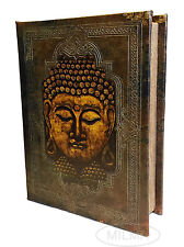 Buddha Book Box Decorative Leather Wood Book Box Storage Secret Book