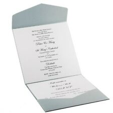 150mm Square Pocket Fold Invitation DIY - Silver Shimmer (Capped $15 Shipping)