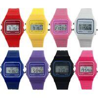Digital Wrist Watch Sport Retro Classic Silicone Rubber Strap LCD Wristwatch New