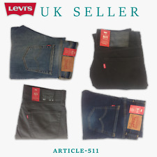 Levis 511 Slim Fit Men's Jeans Stretch Denim Comfortable Blue Sky Navy Grey Sale
