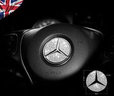 Mercedes Benz Crystal Stone Steering Wheel Insert Badge Emblem Sticker Bling
