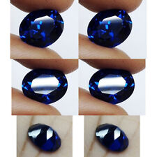 IF 6+ cts Huge Oval (12x10 mm) 100% Lab Spinel Burma Blue Sapphire Color AAA A6