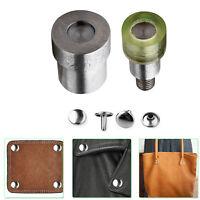 6mm - 15mm Double Cap Rivet Install Dies for Green Machine DIY Leathercrafts Bag