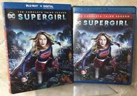 DC Supergirl The Complete Third Season Blu Ray 4 Disc Set + Slipbox Ship Tomor