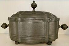 18Th C Rare Pewter Tea Caddy, Tobacco Jar By Johann Christoph Normann Nuremberg