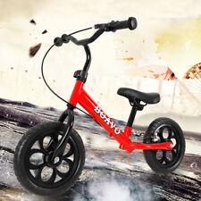 12 Zoll Kinder Laufrad ab 3 Jahre Lernrad mit EVA Reifen und Bremse Rot