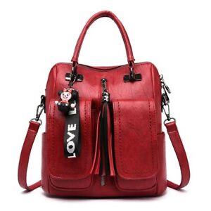 3-in-1 Women Backpacks Shoulder Bags Soft Leather Backpack Ladies Travel Back