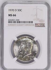 1970-D 50C Kennedy Half Dollar NGC MS66   6240021-040