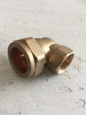 "1/2"" Female X 22mm Compression Elbow  - Brass Free P/P"