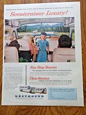 1956 Greyhound Bus Ad  Scenicruiser Luxury