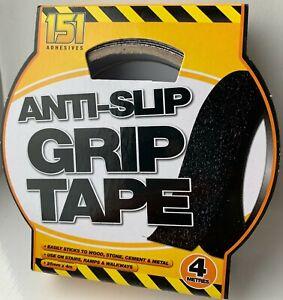 New Anti Slip Grip Tape Adhesive Backed  Black Non Slip Tape Safety Flooring