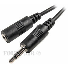 """2 Pack Lot - 100ft 3.5mm Stereo Audio Extension Cable Male to Female M/F 1/8"""""""
