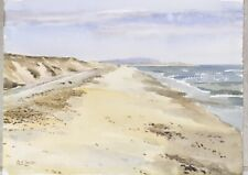Original watercolour, Norfolk beach, signed by the artist