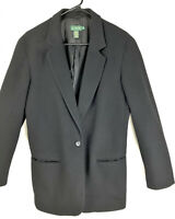 Vintage J. Crew Luxury Cashmere & Wool Blend Blazer Dress Jacket Made USA Sz 10