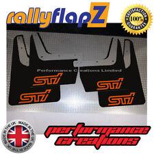 rallyflapZ SUBARU IMPREZA Classic (93-01) Mudflaps Black STi Logo Orange 4mm PVC