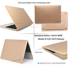 Soft Touch Rubberized Case+Keyboard Cover For 12-inch Newest Macbook Retina 2016