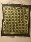 New Mirror work Handmade Green Embroidery Wall Hanging Tapestry Square Cushion