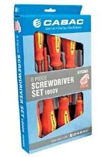 Geniune Cabac VDE Screwdriver set 8 piece Slot-Phillips 1000V protection-HVSDK5