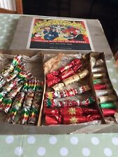 More details for vintage christmas crackers music makers boxed circa 1950s