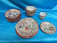 VIntage 16 Piece Lot Menji Gesia Plates and saucers Japan